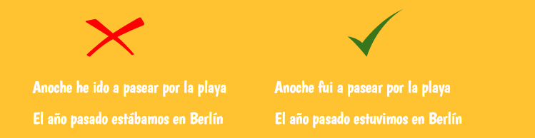 past tenses in spanish common mistakes