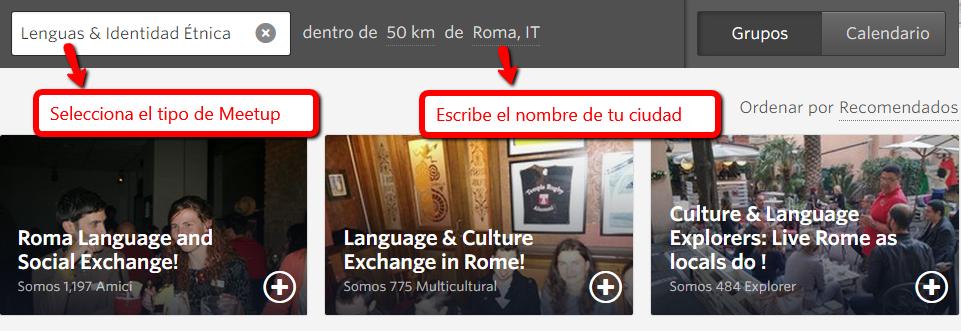 encuentros de español en Meetup